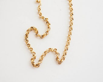 Vintage Large Link Gold Tone Chain 22 inch Bold Statement Jewelry Unisex