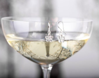 Bridesmaid Earrings - Erica Earring - Clear Crystal Teardrop Earrings - Silver Bridesmaid Earrings - Bridal Earrings - Wedding Earrings
