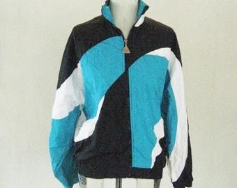 Wilson Aqua Swirly Windbreaker Jacket Top