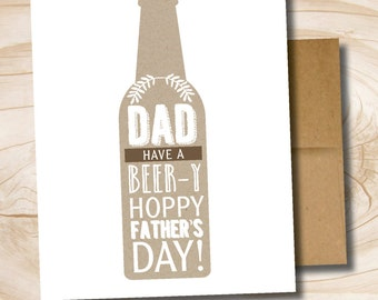 Father's Day craft beer printed greeting card