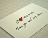Cute Valentine Card - Funny Valentine's Day Card - Paper Quilling - I love you more then you will ever know