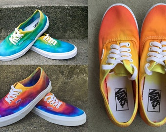 CUSTOM Tie Dye Shoes VANS Hand Dyed Custom Color Sneakers || Made to Order