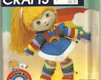 Vtg 1984 pattern McCall's 743 RAINBOW BRITE Doll & Clothes