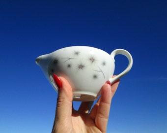Mid Century Atomic Creamer - Platinum Star Burst by Creative Fine China - Excellent - Vintage Creative China Creamer