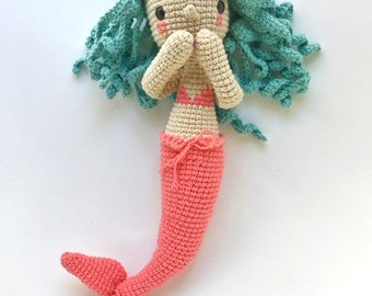 Diega the mermaid-Crochet pattern/amigurumi