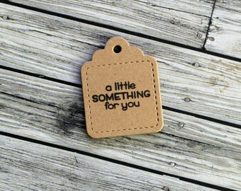 Cute Rustic Stitched Detail Christmas Gift Tags