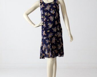 1960s drop waist dress from Bullock's Wilshire, vintage floral dress