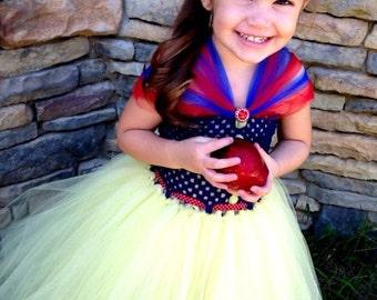 Girls Snow White Inspired Tutu Dress Halloween Costume (Newborn - 5T)