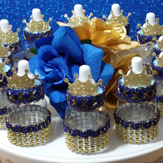 12 royal prince baby shower favors boys royal blue for A new little prince baby shower decoration kit