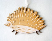 Hedgehog Holiday Ornament