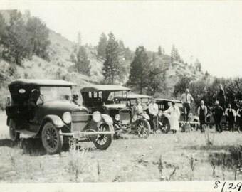 "Vintage Photo ""Parked Line of Wheels"" Classic Car Snapshot Antique Photo Old Black & White Photograph Found Paper Ephemera Vernacular - 10"
