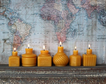 Beeswax Candles - 1800's Inkwell Set of Six