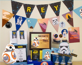 Star Wars Birthday Party DIY Printable Kit - INSTANT DOWNLOAD - Star Wars Inspired