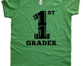 First Grade Tshirt - 1st Grader Shirt - Boys or Girls Back to School First Day of School Tshirt Top Tee - School Clothes - 1st Grader