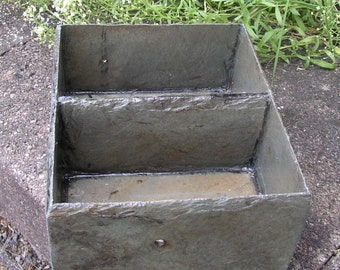 Dresser, vanity or office tray, two compartments, made from recycled slate. # DT-9