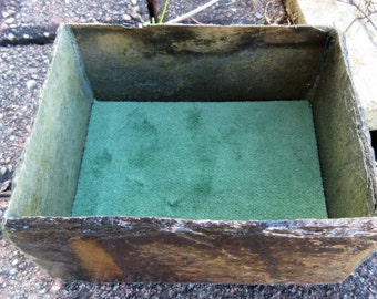 Ring or jewelry box handmade from recycled 80 year old weather beaten slate SO-10