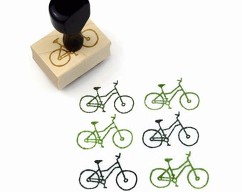 Rubber Stamp Cyclist's Bicycle - Bike Bicyclist Biking Stamp