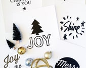 BLACK Friday SALE! 8.5x11 Christmas Decorative Handlettered Prints,Perfect Christmas Decor ready to frame!