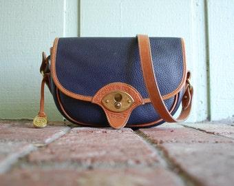 Vintage Dooney and Bourke USA All Weather Leather Shoulder Bag Handbag Purse Boho Hippie Designer Spring Fashion Hipster Preppy Hobo Bag
