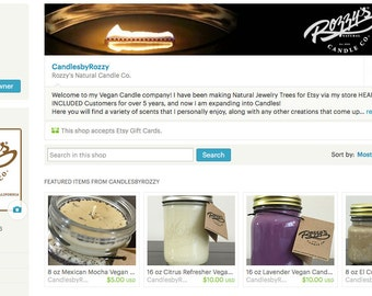Check out my new Natural Candle company on Etsy