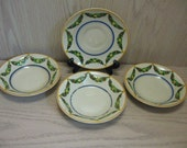 Hand Painted Desert Plates Qty 3 Saucer Qty 1 Swag Design Ridge Way 1973