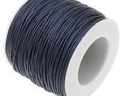 Waxed Cord : 10 yards (30 feet) Navy Blue 1mm Waxed Cord String / Bracelet Cord / Macrame Cord / Chinese Knotting Cord / Shamballa  93233-1
