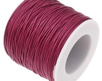 Waxed Cord : Raspberry 1mm Waxed Cord String / Bracelet Cord / Macrame Cord / Chinese Knotting Cord [Choose 10 feet or 30 feet]   90701-13