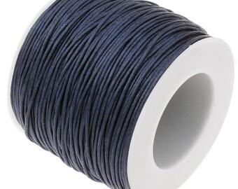 Waxed Cord : Navy Blue 1mm Waxed Cord String / Bracelet Cord / Macrame Cord [Choose 10 feet or 30 feet]   90701-6
