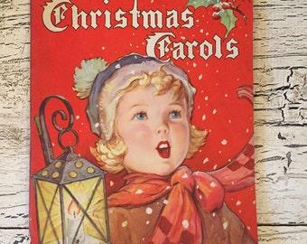Vintage Christmas Carol Sheet Music Book - Beautiful Illustrations - 1938