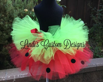 Strawberry Tutu, Pageant, Birthday, Halloween Costume Accessory, Fruit Theme Tutu, Toddler, Child, Teen, and Adult Sizing Available, Custom