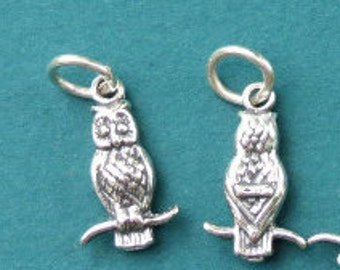 Sterling Silver Owl Charm - 10x16mm - Sold Per Piece - CR3OW