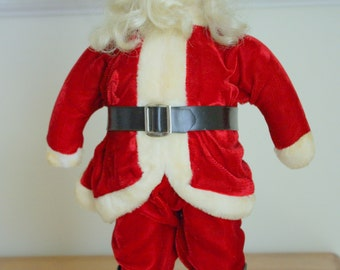 Lovely Vintage Flocked Santa