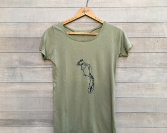 SALE shirt, Squirrel Tee, Size Small