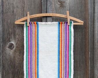 Vintage Colorful Woven Cotton Placemats - Set of 6