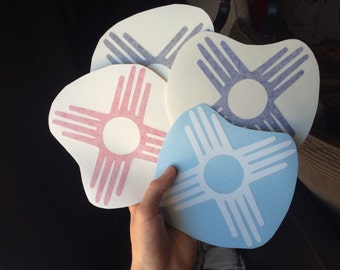 "6"" Zia Symbol Removable Premium Vinyl Decal Stickers New Mexico"