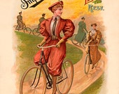 Imperial Wheels Bicycle Poster (#0205) 6 sizes