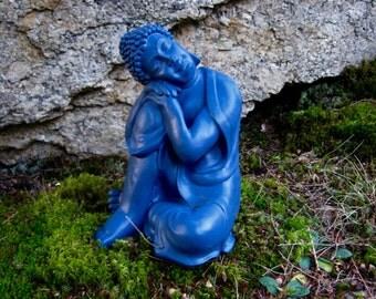 Buddha Statue, Blue Buddha Of Healing, Concrete Buddha Statues, Garden Buddha Figure, Garden Decor, Cement Buddha Statue, Buddha For Garden