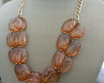 Multi strand statement necklace chunky beaded necklace bib necklace beaded jewelry statement necklace summer jewelry
