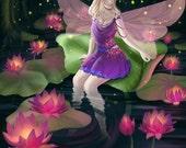 Fairy Dragonfly - Original 4x6 or 8x10 Digital Print by WiskyLittle