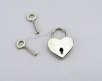 Heart lock with key