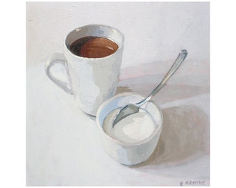 """Oil on Canvas Painting - """"Coffee 2"""" - 12x12"""""""