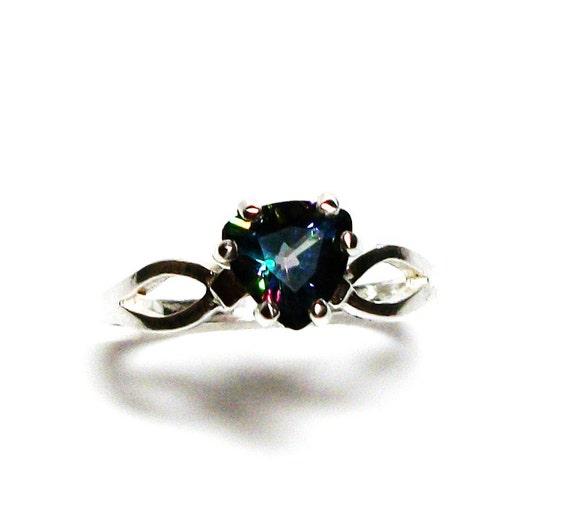 mystic topaz mystic topaz ring birthstone ring sweetheart