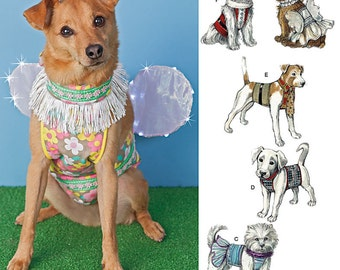 """Simplicity Pattern 1482 Dog Clothes, Costumes and Hat Sizes S-L: 8""""-18"""" Back Length NEW"""