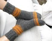 Men's Socks EU Size 43-44 - Hand Knitted  - 100% Natural Wool