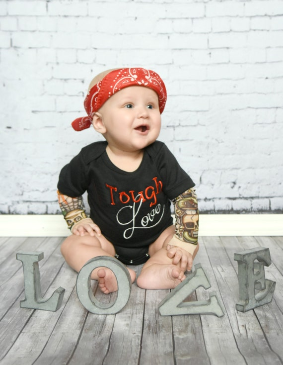 boy valentine's day shirt baby tattoo sleeve tough love, Ideas