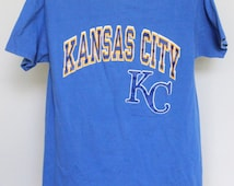 Vintage Kansas City Royals T Shirt Mens Medium Unisex Womens Tee Shirt KC Royals 1988 80s MLB Baseball George Brett