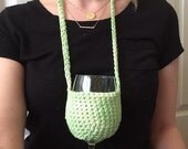 Multi Green Woozie / Wine Coozie / Snifter coozie / Necklace Coozie / Monogram Coozie