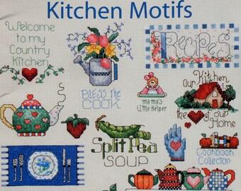 Jeanette Crews Designs KITCHEN MOTIFS A Smidgen Of Alma Lynne Minis Miniatures (Multiple Designs) - Counted Cross Stitch Pattern Chart