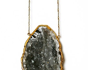 AGATE geode necklace - extra large