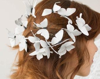 Silver Butterflies Crown Tiara Wholesale Butterfly Hair Accessory Decoration Butterflies Coronal Bridal Hair Vines Wedding Bridal Birthday